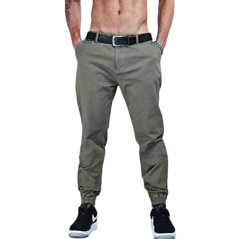 Solid Color Cotton Twill Jogger Pants-men fashion & fitness-wanahavit-Fleece Black-29-wanahavit