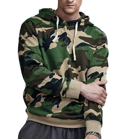 Spring Cotton Camouflage Hooded Sweatshirt