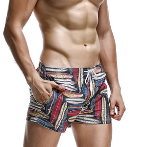 Breathable Elastic Pattern Printed Beach Shorts-men fitness-wanahavit-Pattern 1-S-wanahavit