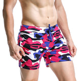 Camouflage Cotton Jogger Shorts with Side Pockets