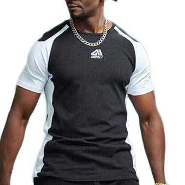 Sleeve Contrast Fitness Shirt