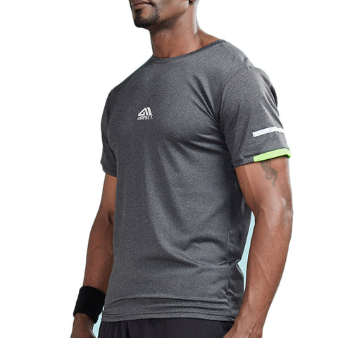 Sleeve Stripe Color Accent Compression Shirt