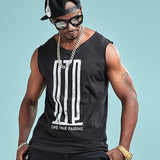 One True Pairing Print Sleeveless Shirt-men fashion & fitness-wanahavit-Black-M-wanahavit