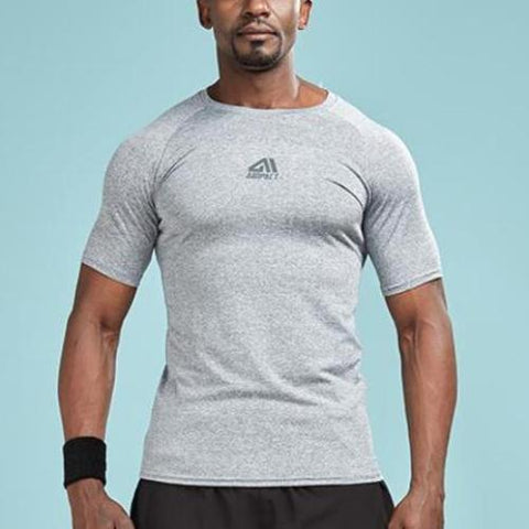 Solid Color Quick Dry Compression Shirt