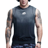 Gradient Colored Workout Sleeveless Shirt-men fashion & fitness-Black-M-wanahavit