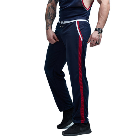 Single Striped Jersey Jogger Pants-men fashion & fitness-wanahavit-RoyalBlue-M-wanahavit