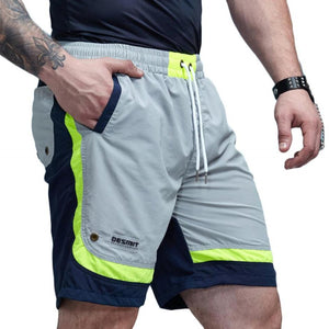 Patchwork Color Accented Quick Dry Shorts-men fashion & fitness-wanahavit-Gray-M-wanahavit