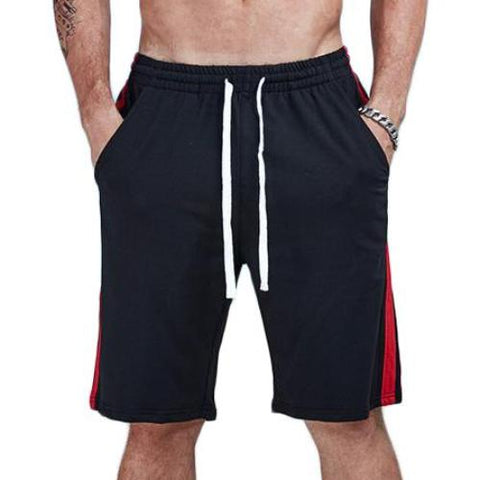 Casual Jogger Loose Double Striped Shorts - men fashion & fitness - wanahavit