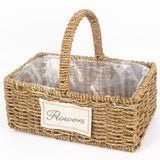 Big Handmade Bamboo Flower Basket with Handle - home accent - wanahavit