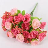 15 Heads Small Rose Buds Bouquet-home accent-wanahavit-C PINK-wanahavit