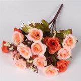 15 Heads Small Rose Buds Bouquet-home accent-wanahavit-D ORNAGE-wanahavit