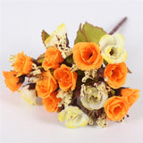 15 Heads Small Rose Buds Bouquet - home accent - wanahavit