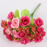 15 Heads Small Rose Buds Bouquet-home accent-wanahavit-C ROSE RED-wanahavit