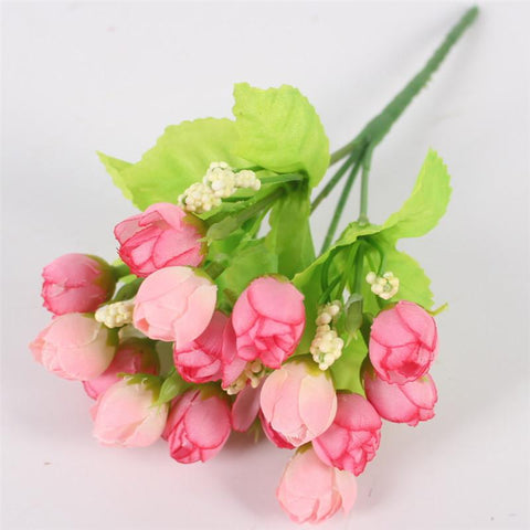 15 Heads Small Rose Buds Bouquet-home accent-wanahavit-A Pink-wanahavit