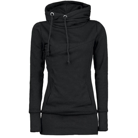 Black Gothic Hooded Pullover Sweatshirt - unisex - wanahavit