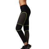 Quick Dry Meshed Color Outlined Leggings-women fitness-wanahavit-Green-L-wanahavit