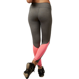 Elastic Patchwork Color Accent Quick Dry Legging-women fitness-wanahavit-Hot Pink-L-wanahavit