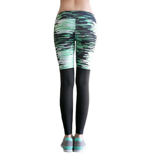 Abstract Half Printed Compression Leggings-women-wanahavit-Pink-L-wanahavit