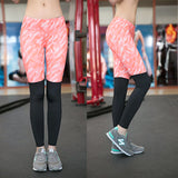 Abstract Half Printed Compression Leggings