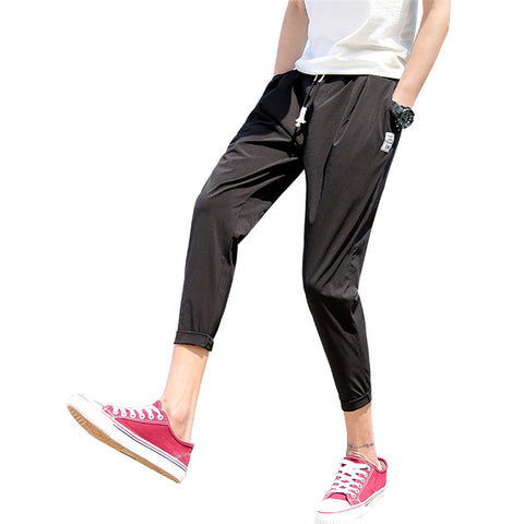 Slim Fit Casual Stripe Jogger Pants-men-wanahavit-Black Pants-M-wanahavit