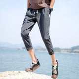 Slim Fit Casual Stripe Jogger Pants-men-wanahavit-Dark Gray Pants-M-wanahavit