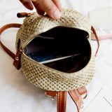 Fashionable Bohemian Straw Mini Backpack-women-wanahavit-Brown-wanahavit