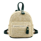 Fashionable Bohemian Straw Mini Backpack-women-wanahavit-Green-wanahavit