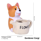 Lovely Resin Flower Vase-home accent-wanahavit-Gardening Corgi-wanahavit