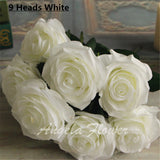Artificial Decorative Silk Rose Bouquet