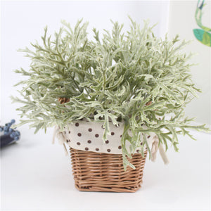 Flocking Antlers Leaf Decorative Plant-home accent-wanahavit-Green-wanahavit