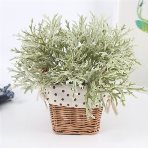 Flocking Antlers Leaf Decorative Plant