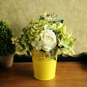 Colorful Iron Hollow Out Flower Vase-home accent-wanahavit-White-wanahavit
