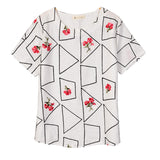 Embroidery Geometric & Floral Tees-women-wanahavit-White-One Size-wanahavit