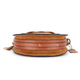 Luxurious Genuine Leather Circular Handbag-women-wanahavit-Brown-wanahavit