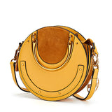 Luxurious Genuine Leather Circular Handbag-women-wanahavit-Yellow-wanahavit