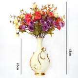 Renaissance Ceramic Flower Vase-home accent-wanahavit-Big C n 3Mixed Roses-wanahavit
