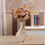 Renaissance Ceramic Flower Vase-home accent-wanahavit-C n 1Pink Rose-wanahavit