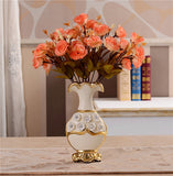 Renaissance Ceramic Flower Vase-home accent-wanahavit-A n 2Orange Roses-wanahavit