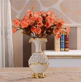 Renaissance Ceramic Flower Vase-home accent-wanahavit-Big A n 3Orange Rose-wanahavit