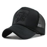 Tiger Embossed Baseball Cap-unisex-wanahavit-Leopard Black-Adjustable-wanahavit