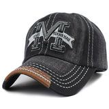 M Embroid Baseball Cap-unisex-wanahavit-F214 M Black-Adjustable-wanahavit