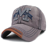 M Embroid Baseball Cap-unisex-wanahavit-F214 M Gray-Adjustable-wanahavit