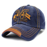 M Embroid Baseball Cap-unisex-wanahavit-F214 M Blue-Adjustable-wanahavit