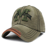 M Embroid Baseball Cap-unisex-wanahavit-F214 M Green-Adjustable-wanahavit
