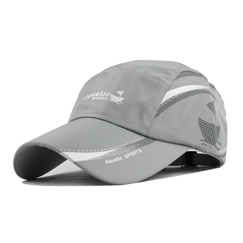 Aquatic Sports Print Baseball Cap-unisex-wanahavit-Gray-Adjustable-wanahavit