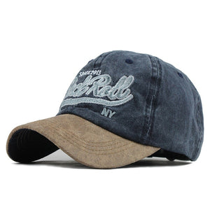Rock and Roll Since 2013 Embroidered Snapback Baseball Cap-unisex-wanahavit-F609 Navy-Adjustable-wanahavit