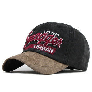 Urban Swagger Embroidered Snapback Baseball Cap-unisex-wanahavit-F605 Black-Adjustable-wanahavit