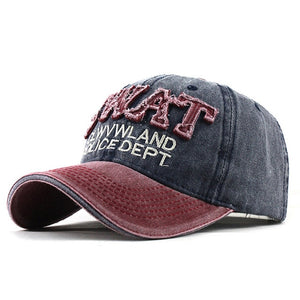 SWAT Department Patched Embroidered Snapback Baseball Cap-unisex-wanahavit-F322 Red Navy-wanahavit