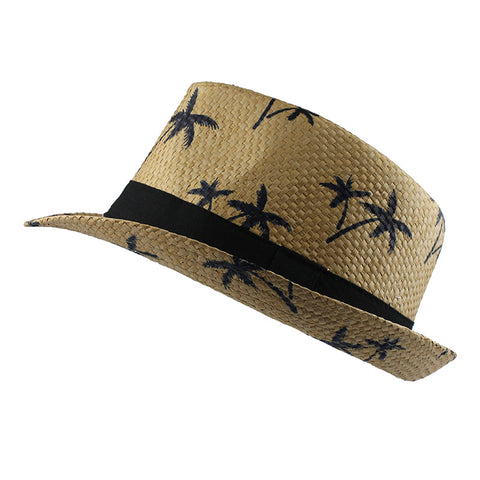 Panama Beach Straw Sun Hat-unisex-wanahavit-F304 Brown-wanahavit