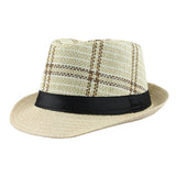Striped Summer Sun Hat-unisex-wanahavit-F303 Beige-wanahavit